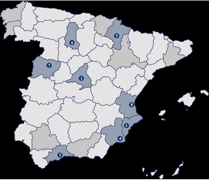 mapa parroquias dehonianos