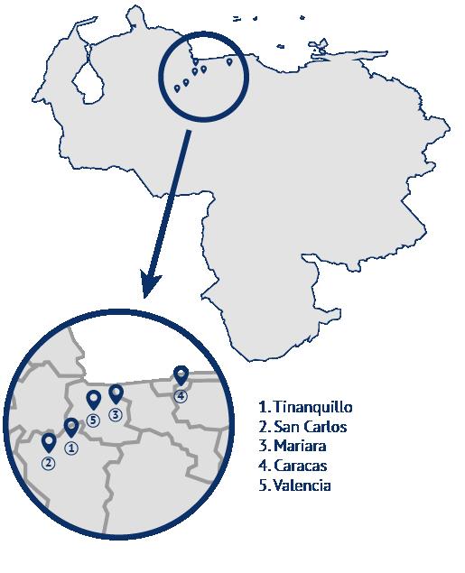 mapa venezuela dehonianos