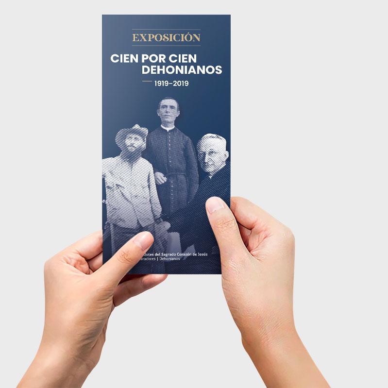 Flyer exposición dehonianos